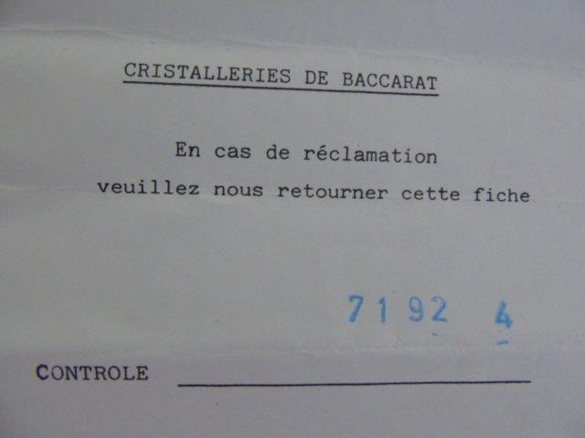Boxed Set of Baccarat Crystal Knife Rests - 6