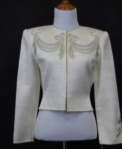 Vintage Mary McFadden Couture Silk Jacket
