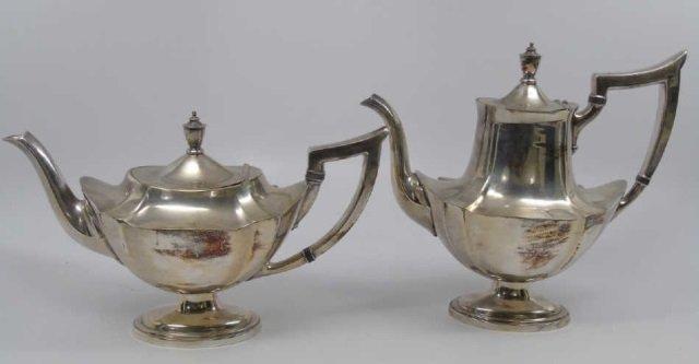 Antique Gorham Silver Plate Coffee & Tea Pots