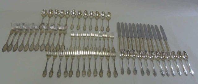 Buccellati Empire Sterling Silver Flatware for 12