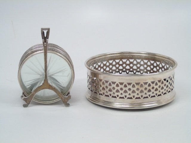 Antique Sterling & Silver Plate Coasters