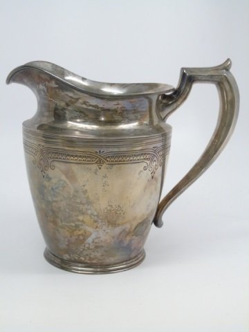 Antique Black Starr & Frost Sterling Water Pitcher