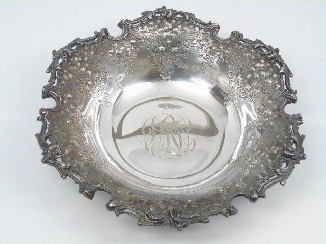 Antique Black Starr & Frost Repousse Sterling Bowl