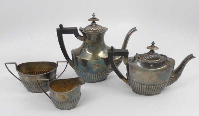 Antique Black Starr Frost Sterling Tea Coffee Set