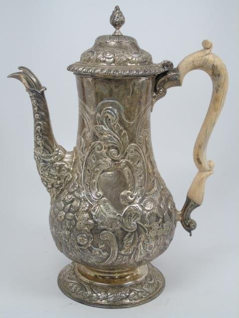 Antique English George III 1817 Sterling Teapot