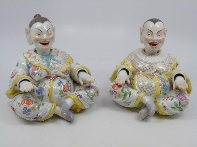 Antique 19th C Meissen Porcelain Chinese Nodders