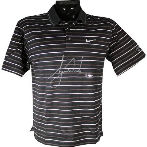 Tiger Woods Autographed Tournament Used Shirt UDA