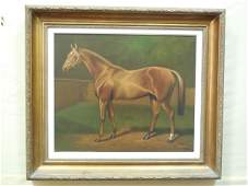 Equestrian Portrait Signed P. English