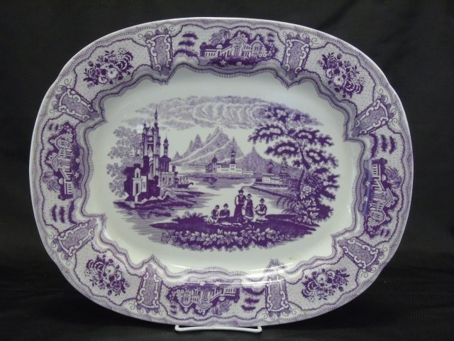 Antique 19th C. English Porcelain Platter
