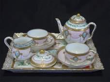 Antique English Hand Painted Porcelain Tea Set