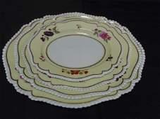 4 Antique Flight, Barr & Barr Porcelain Platters