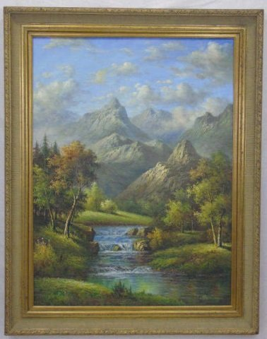 Sunderman- Landscape Oil Painting w/ Mountains