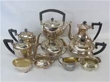 Large English Silver Plate Coffee  Tea Service