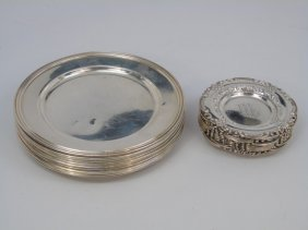 Two Sets Of Sterling Silver Bread & Butter Plates