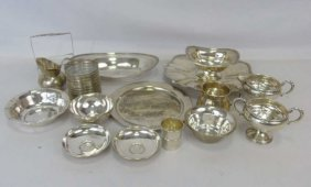 Large Group Of Sterling Silver Serving Ware