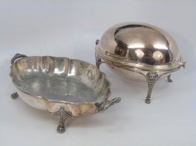 Two Antique Silver Plate Serving Pieces