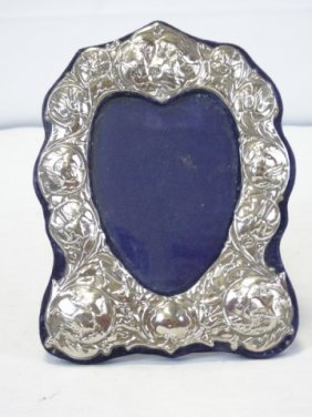 Vintage Sterling Silver Heart Picture Frame