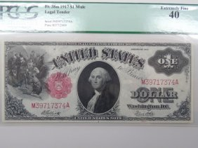 Us Currency American Series Of 1917 $1 Bill