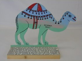 "Howard Finster Cut-out Camel ""desert Taxi"" Signed"