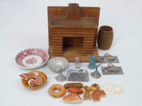 Antique Vintage Dollhouse Miniature Kitchen Items
