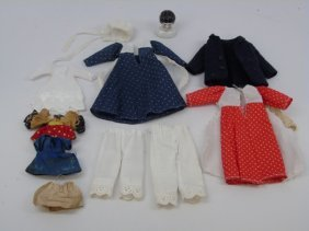 Group Of Antique & Vintage Dollhouse Doll Clothing