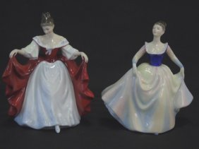 2 Royal Doulton Porcelain Figurines Ladies