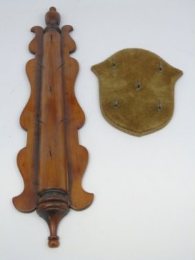 Two Antique Key Holder Wall Plaques