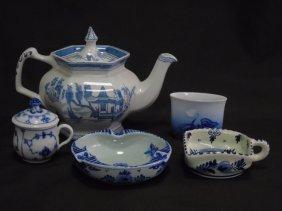 5 Porcelain Items Delft Royal Copenhagen