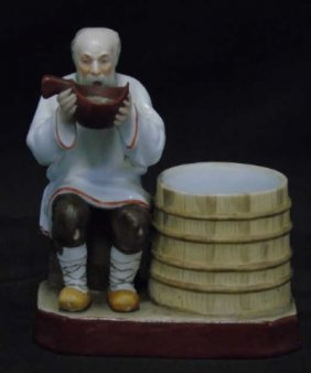 Antique Russian Gardner Porcelain Figurine