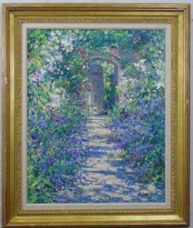 Susan Lane - Impressionist Garden Oil Painting