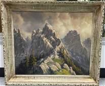 Ehrlich - Framed German Alpine Landscape Painting