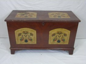 Hand Painted Pennsylvania Dutch Blanket Chest