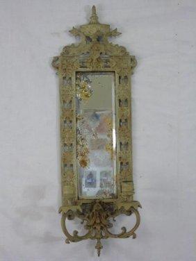Bradley Hubbard Gilt Metal Mirror Sconce W/ Urn