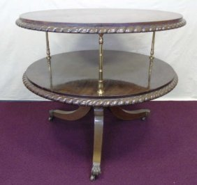 Antique Two Tier Neo Classical End Table