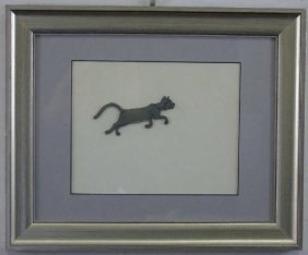 "Disney Animation Cel ""the Aristocats"" Alley Cat"