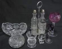 7 Items American Brilliant Cut Crystal Bowl Box