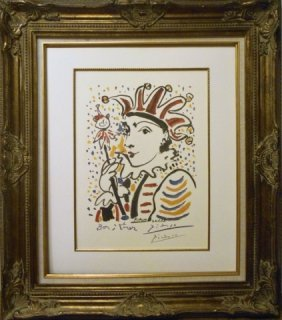 Pablo Picasso Woman Clown Color Lithograph