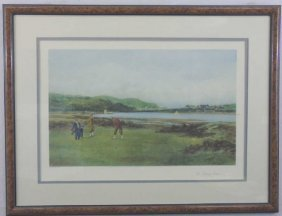 Douglas Adams Framed Golf Engraving