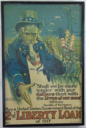 Groesbeck- Uncle Sam 2nd Liberty Bond Poster Litho