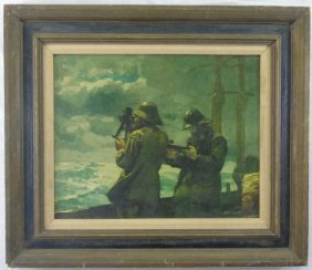 Framed Print Of Winslow Homer's Eight Bells Painting