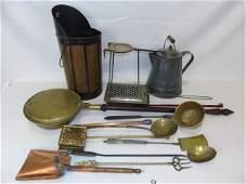 Antique Country Kitchen Items - Crock Scoop Etc