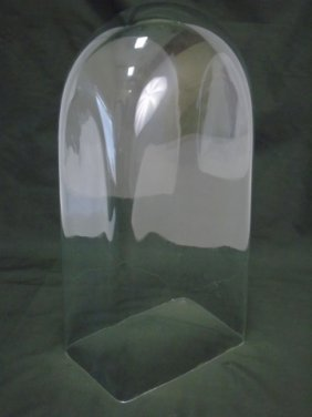 Large Antique Glass Cloche / Dome