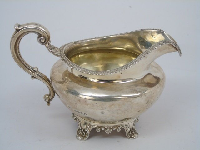 Antique 1833 John Angell English Sterling Creamer