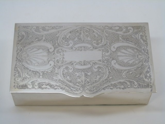 Sheffield England Silver Plate Chased Table Box
