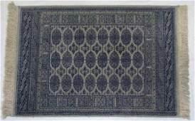 Vintage Wool  Silk Persian Bokara Carpet  Rug