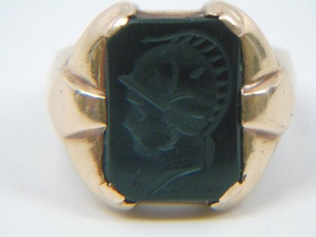 Antique 14kt Yellow Gold Intaglio Men's Ring