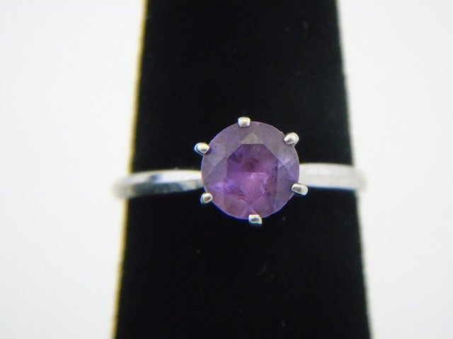 Estate 14k White Gold Solitaire Spinel Ring