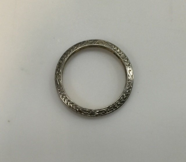 Estate Antique Tiffany & Co Platinum Wedding Band