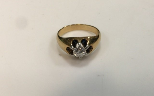Estate 14kt Yellow Gold & Diamond Ring