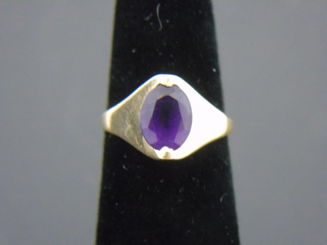 Estate 14k Yellow Gold & Amethyst Ring